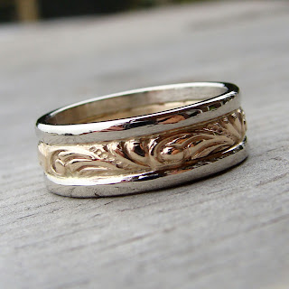 two tone wedding band
