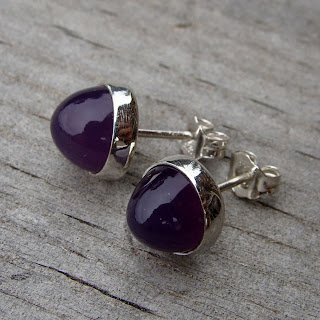 purple chalcedony earrings