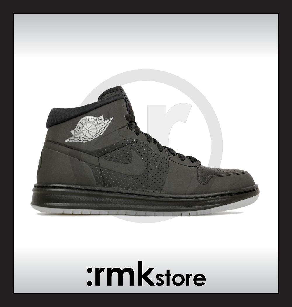 1b8c0aa0acdaf0 rmkstore  Nike Air Jordan 1 Phat 20 3M Black Metallic Silver 392813-002