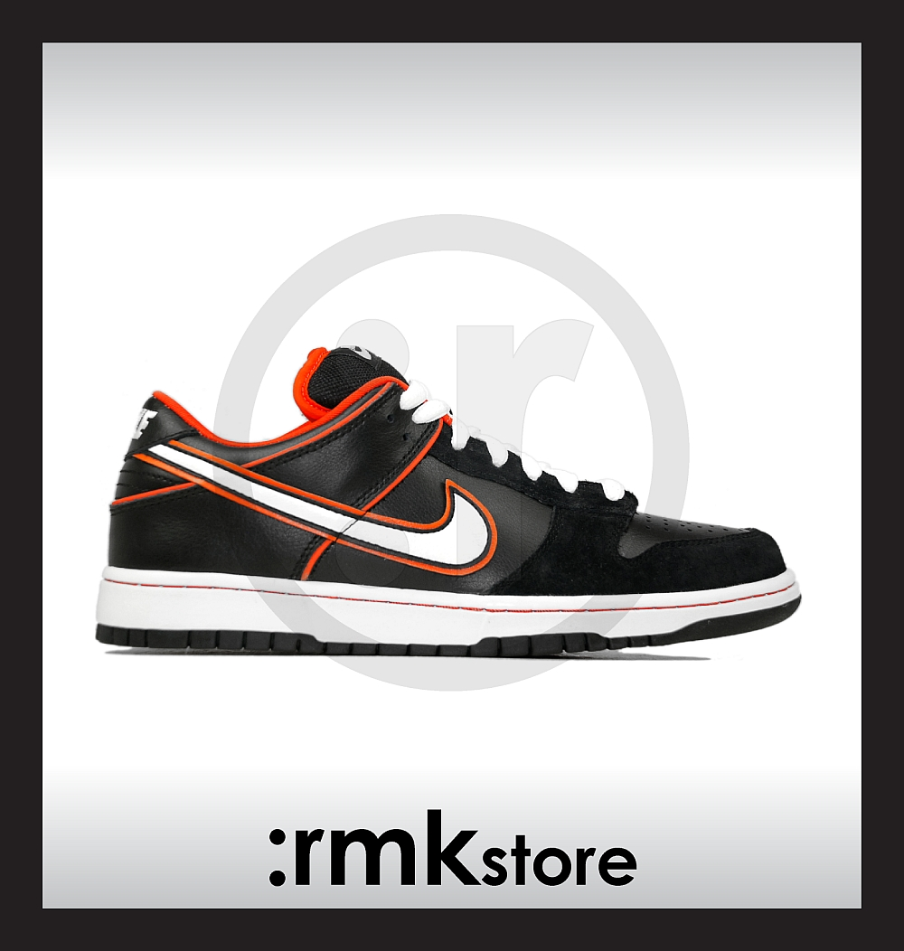 950f345da0b0 rmkstore  Nike Dunk Low Pro SB Black Orange Blaze 304292-010
