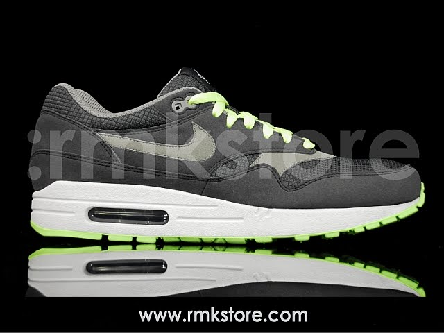 the best attitude 29160 1e97b Nike Air Max 1 Omega Pack Athletics West Obsidian Red 308866-402   Liquid  Lime 308866-010