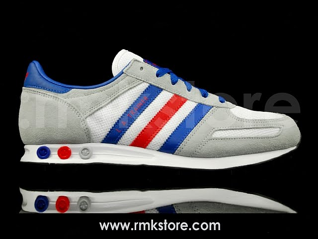 new concept ff9ac 6ed9b Adidas LA Trainer Royal White Red U43303 The adidas LA Trainer was first  released ...