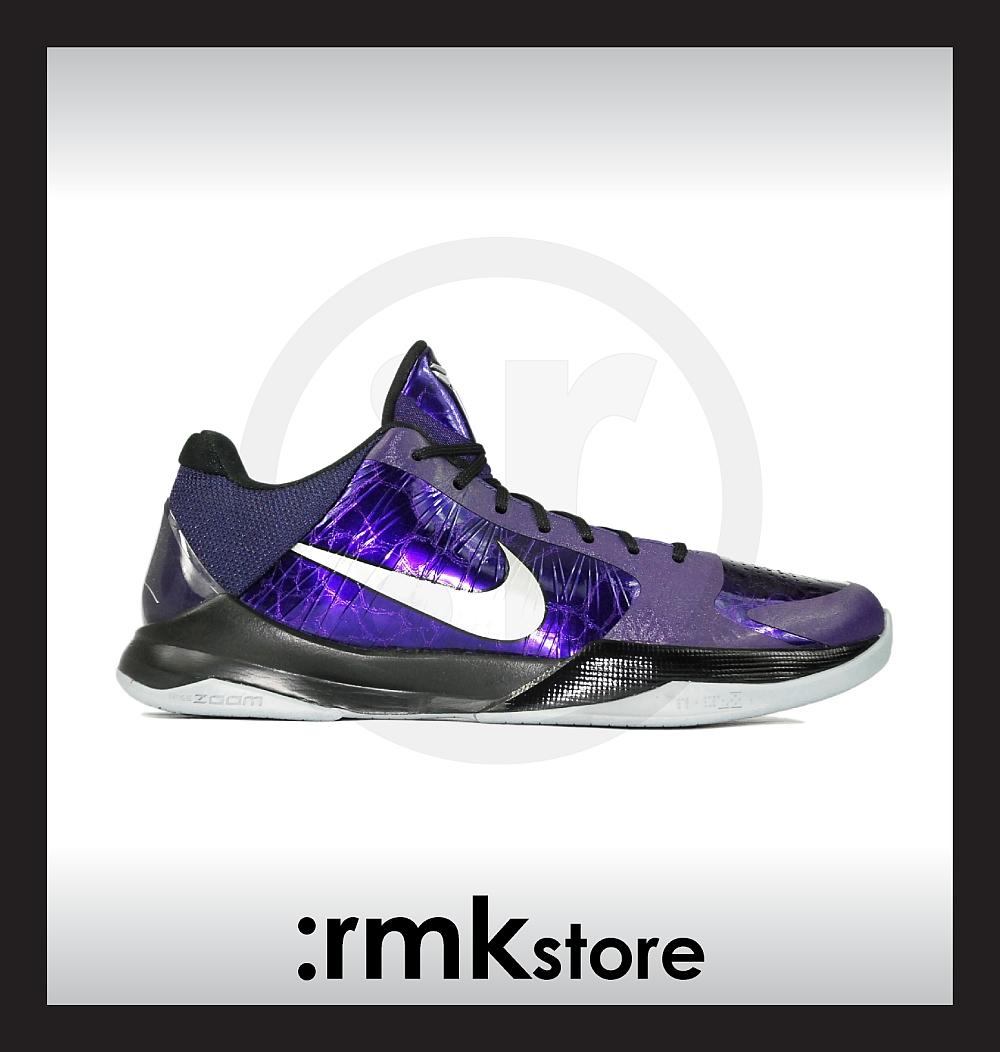 reputable site 68fc8 af9a2 Nike Zoom Kobe 5 V Ink Purple Silver Black 386430-500