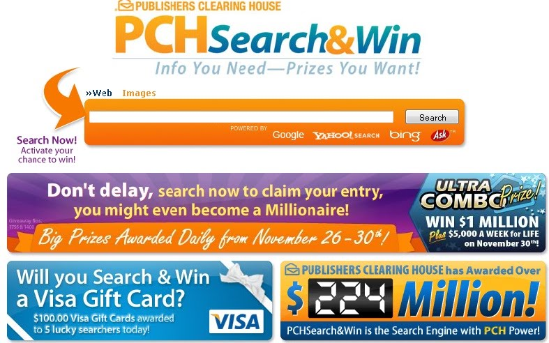 pch sweepstakes website