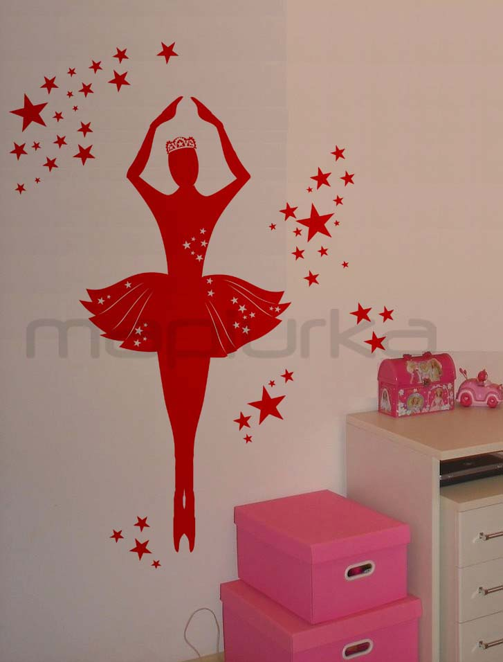 Mapiurka adhesivos decorativos ba bailarina en tu for Pegatinas de pared baratas