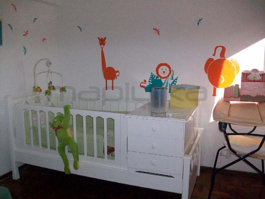 Mapiurka adhesivos decorativos ba animales de la selva for Adhesivos decorativos infantiles