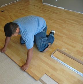 laminaat vloer leggen