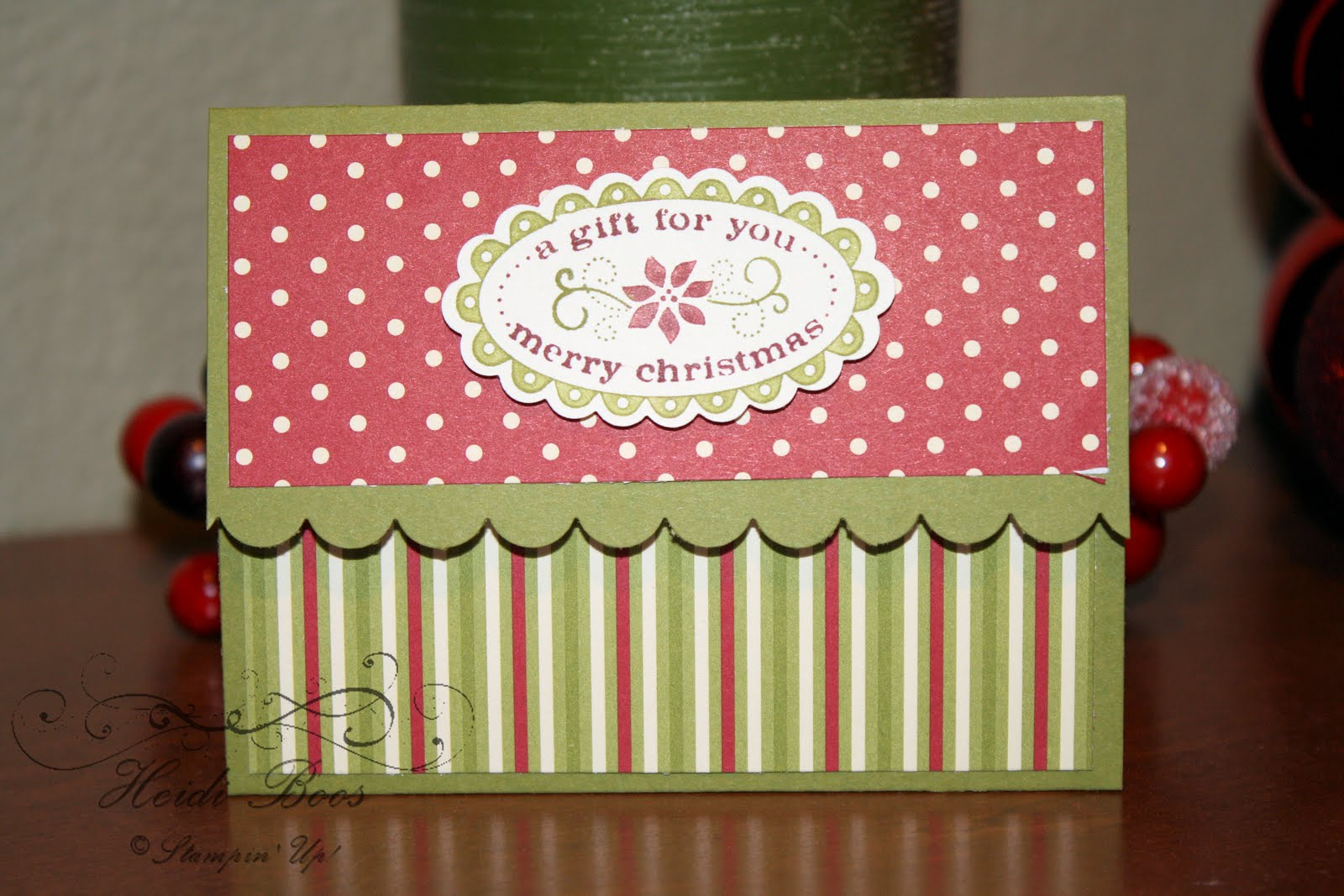 Stuck on Stampin': Christmas gift card holders & a couple ...