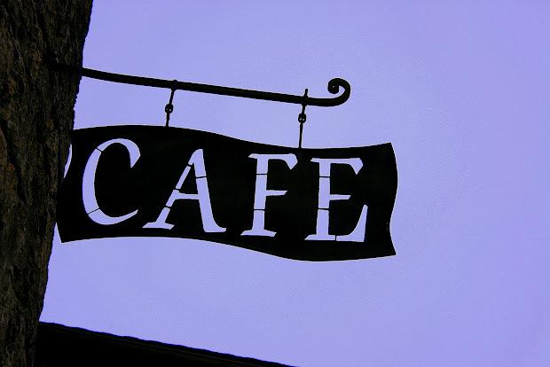 Iulia' Spark Cafe Sign