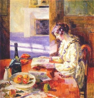 WOMEN READING, PAINTINGS