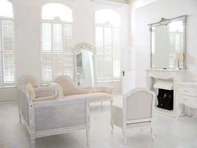 White Beige Airy Interior Design With French Furniture
