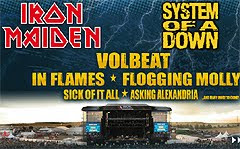 Iron Maiden, System Of A Down e In Flames al Nova Rock Festival 2011