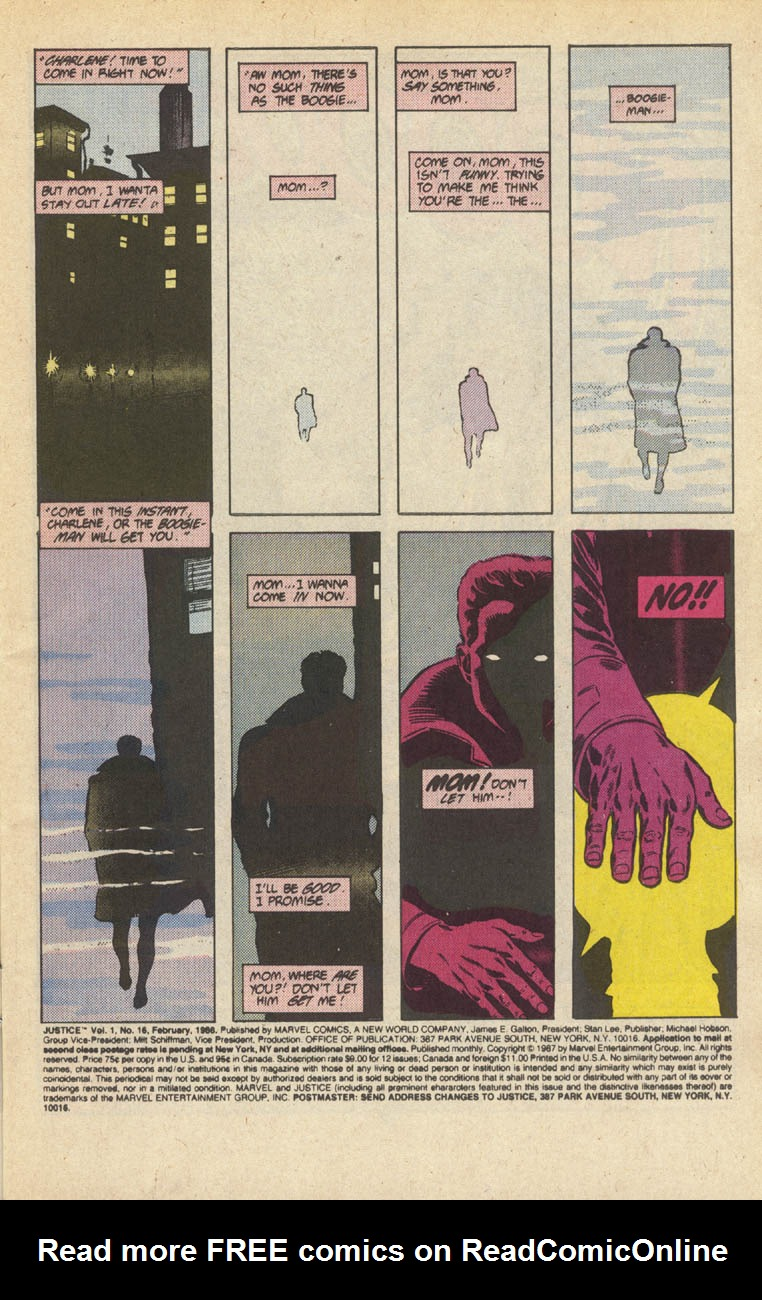 Read online Justice (1986) comic -  Issue #16 - 2
