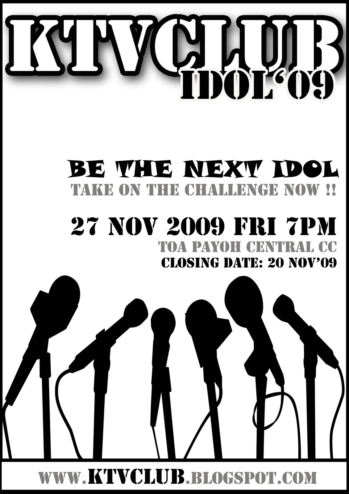 Singing Contest Poster