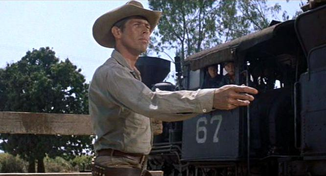 James Coburn s knife throw from The Magnificent Seven James Coburn Magnificent Seven