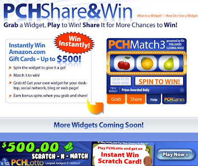 pch online sweepstakes hints
