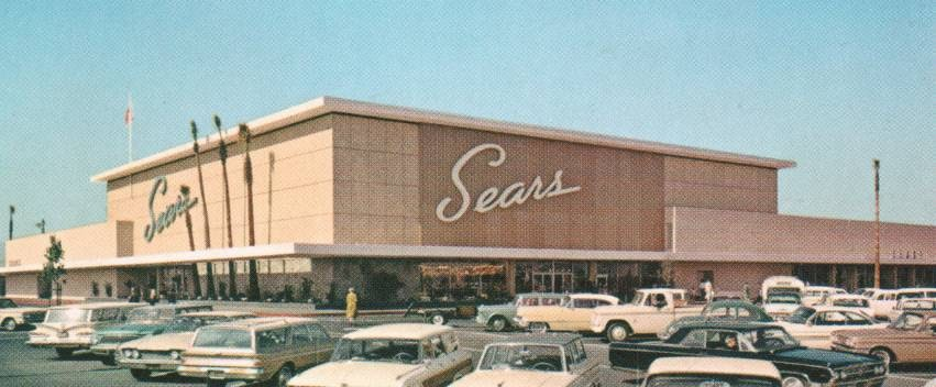 Pleasant Family Shopping Sears Canoga Park California 1964