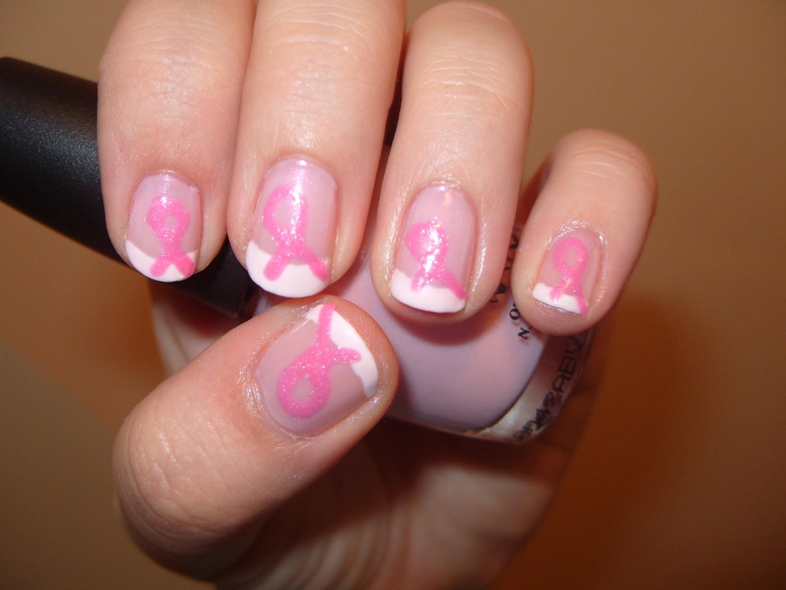 sharihearts: Pink Ribbon Breast Cancer Awareness Nail Art