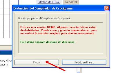 compilador de crucigrama 8 demo