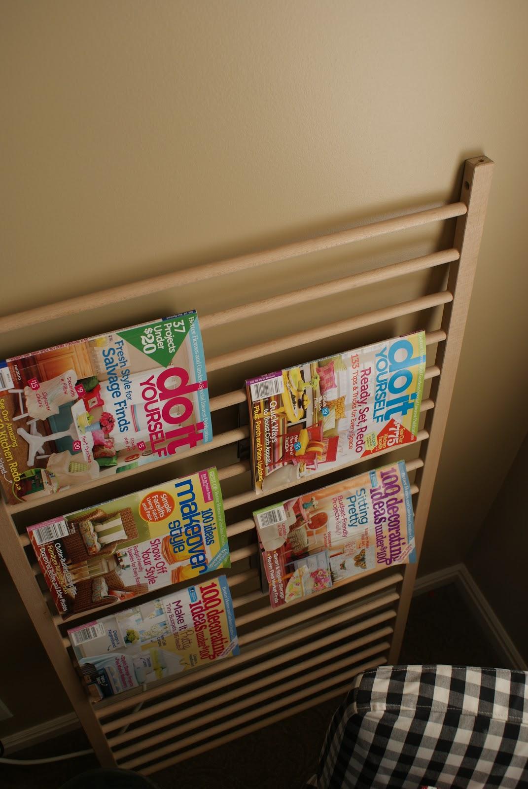 $2 Magazine Rack! Thank you Ikea!!!   Blue Cricket Design - photo#25