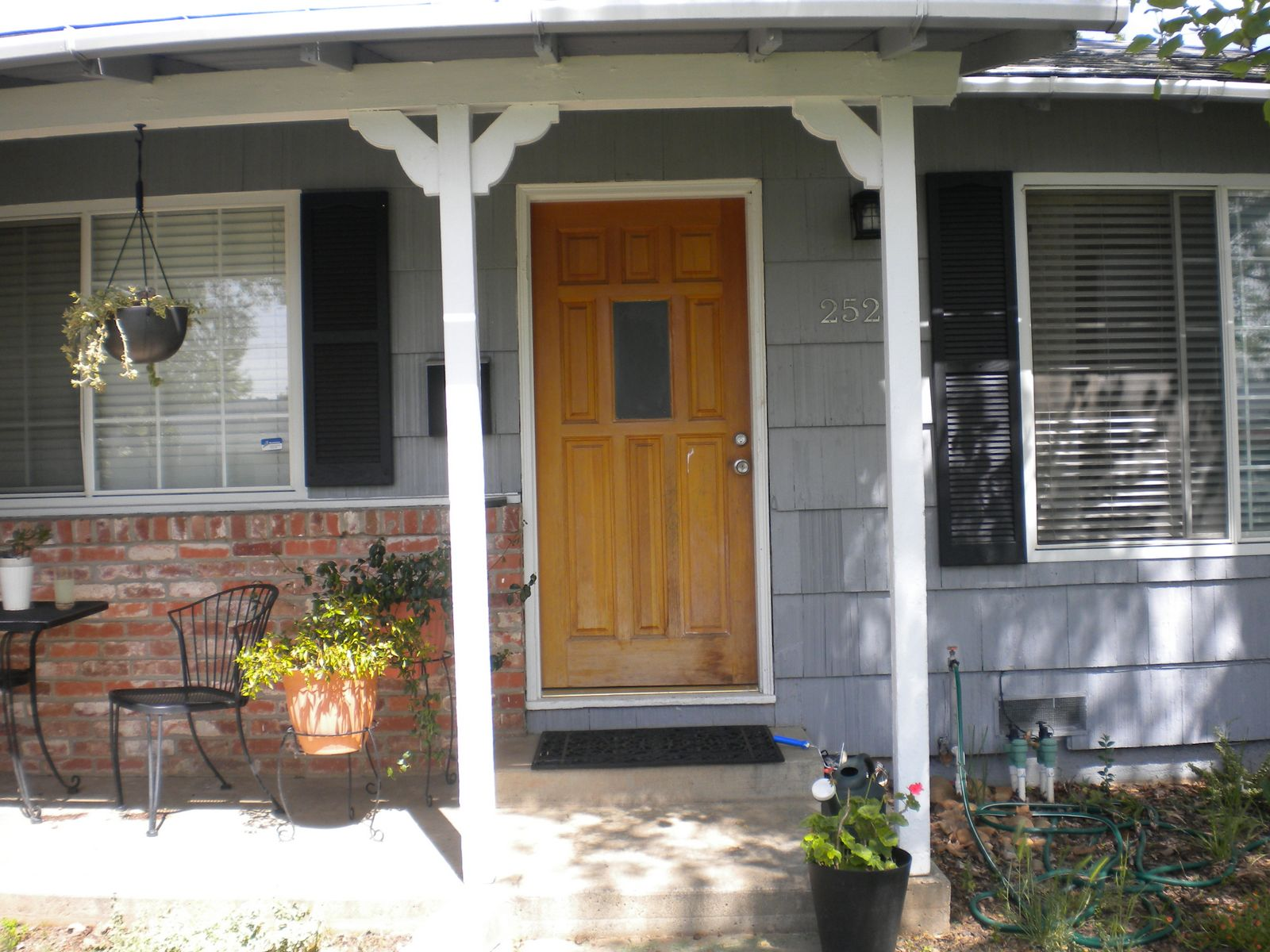 Posh red our front door updated home depot center - Front door colors for grey house ...