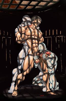 Male life drawing bondage art and emo boys 10