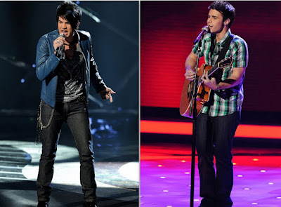 american idol season 8, final two contestants, adam lambert and kris allen, american idol finale, may 21 2009, pre finals night performance, hollywood, who is the next american idol, adam vs. kris