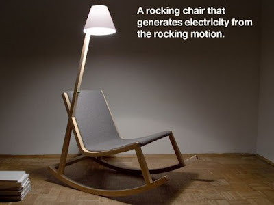 Murakami Rocking Chair, Invented by Rochus Jacob from USA, OLED powered lamp