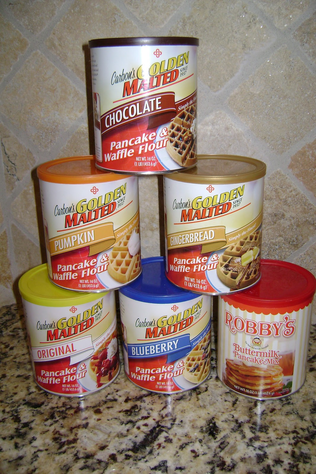 I Gave My Pas The Canister Of Chocolate Waffle Mix To Try Out Since Mom Was One Who Told Me About Carbon S Golden Malted Mi