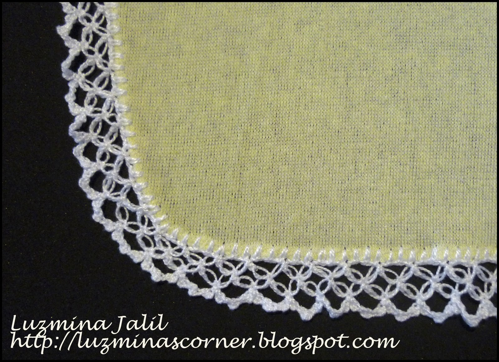 Atractivo Crochet Patrón De Toallita De Bebé Viñeta - Manta de Tejer ...