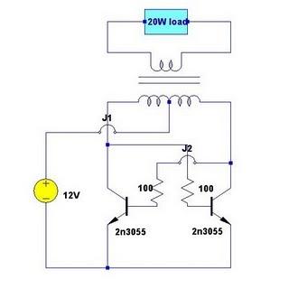Skema Rangkaian Inverter Sederhana 12v ke 220v ~ Direktori