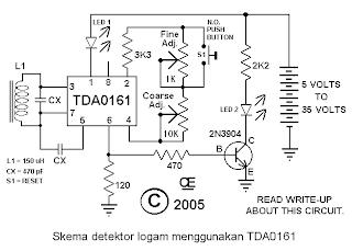 Skema detektor logam
