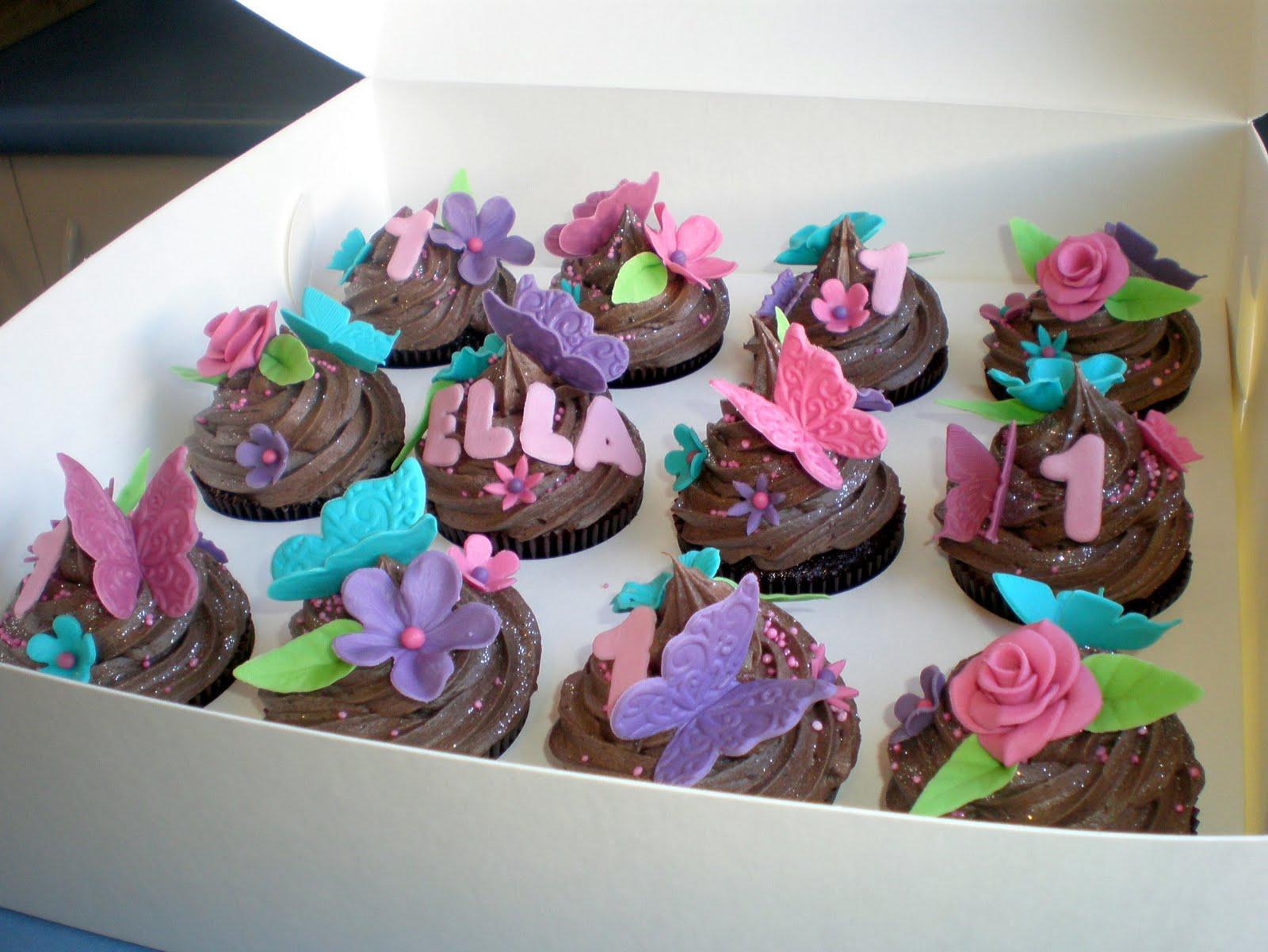 Sugar Siren Cakes Mackay: Bright Butterfly & Flower 1st