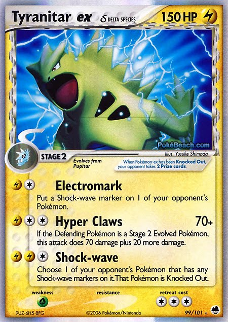 Pokemon Card Of The Day Tyranitar Ex Ex Dragon Frontiers