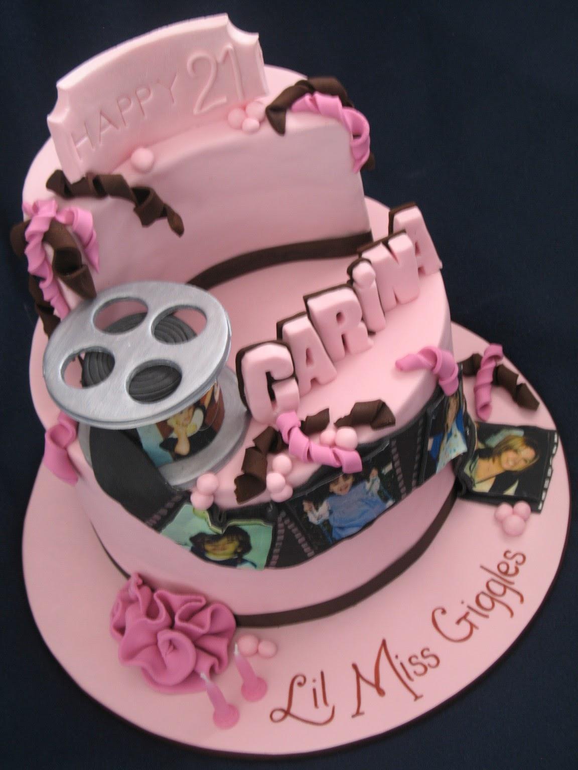 Blissfully Sweet 21st Photo Montage Cake