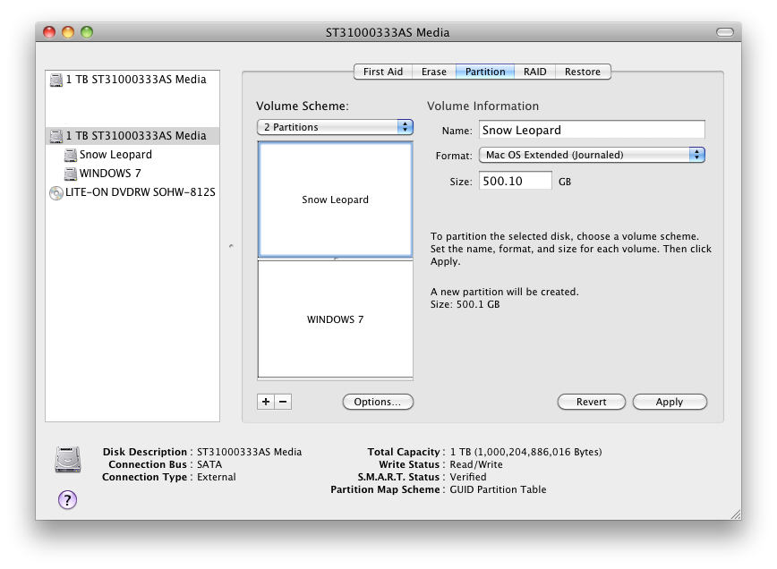 tonymacx86 Blog: Dual Boot Windows 7 and OS X Snow Leopard Using
