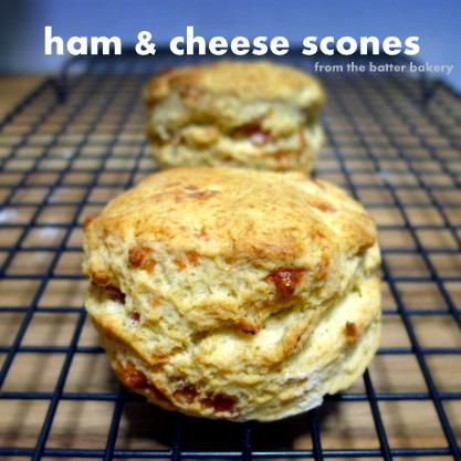 the batter baker: Ham & Cheese Scones