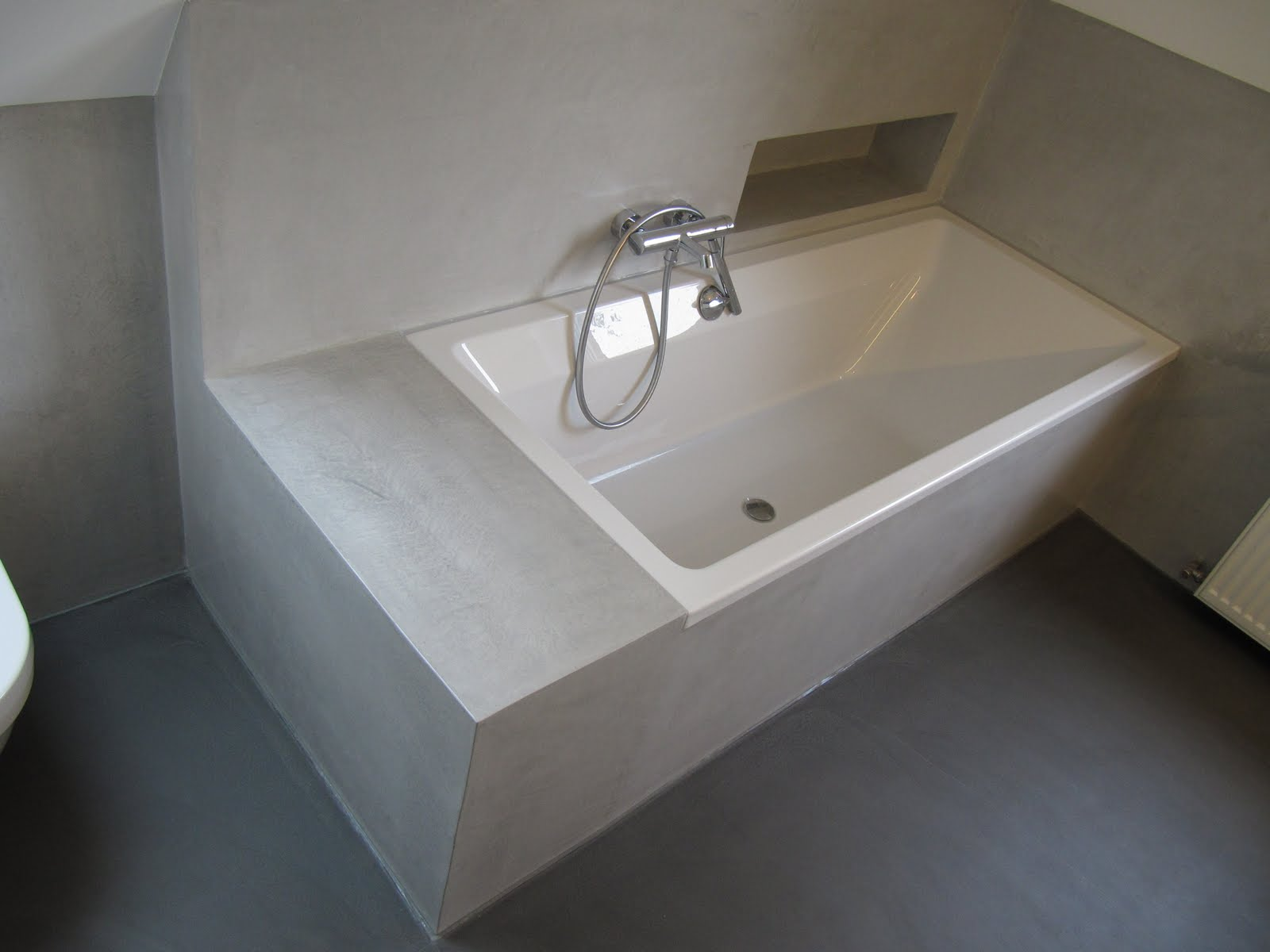 design handwerk beton cire bad. Black Bedroom Furniture Sets. Home Design Ideas