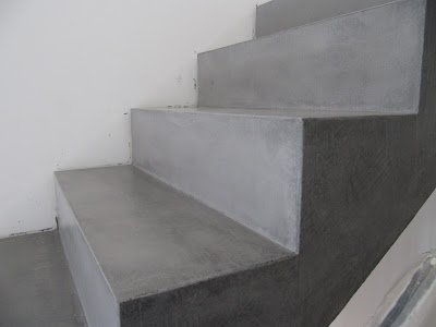 beton unique beton cire beton cire betontreppe vor und. Black Bedroom Furniture Sets. Home Design Ideas