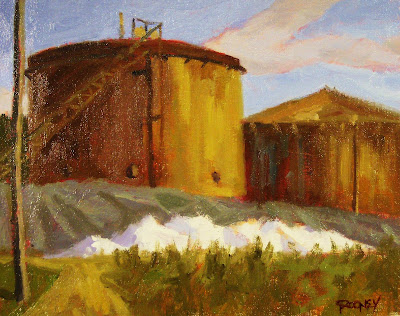 Mike Rooney Studios- Painting a Day: The Salt Pile-big 8x10-$50