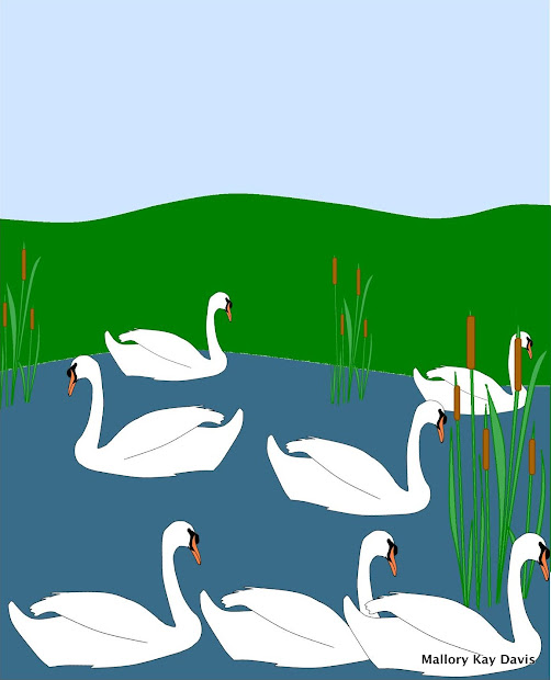 7 Seven Swans a Swimming