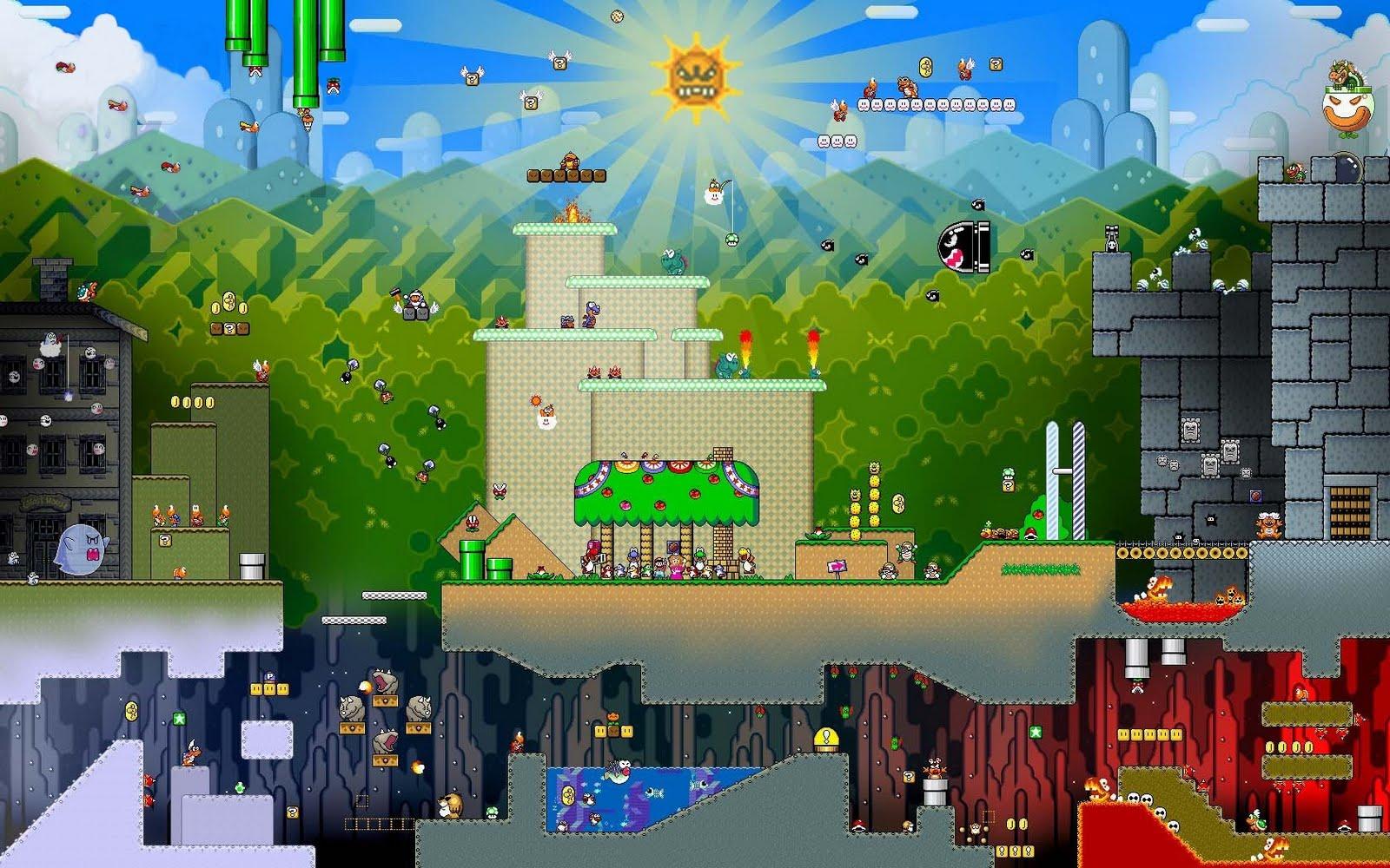 PK Gaming: Wallpaper Wednesday: Super Mario WORLD