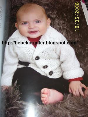 erkek bebek hirka modeli