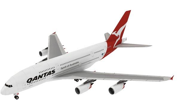 Qantas A380 Papercraft Papercraft Paradise Papercrafts