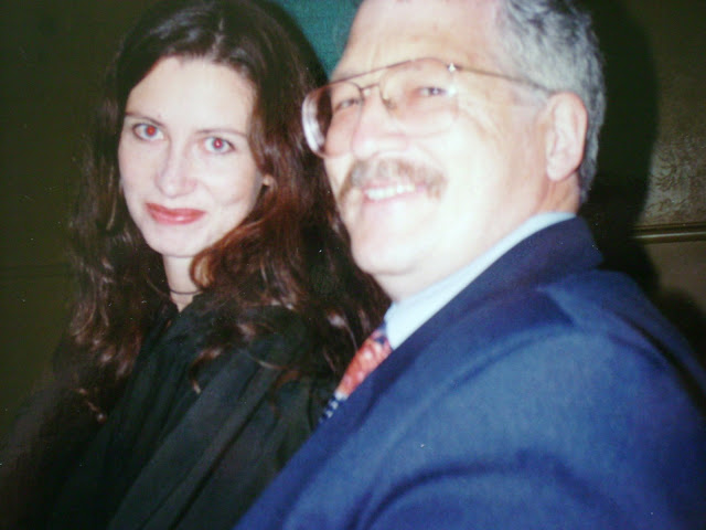 Me and My Dad at my Bible College Graduation in 1996
