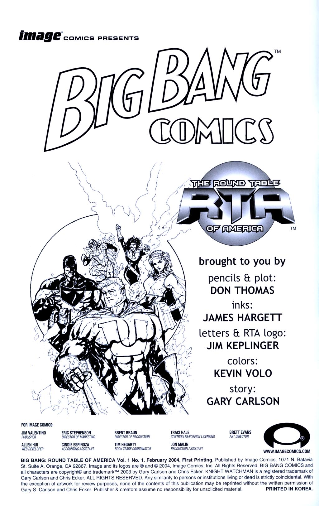 Read online Big Bang: Round Table of America comic -  Issue # Full - 2