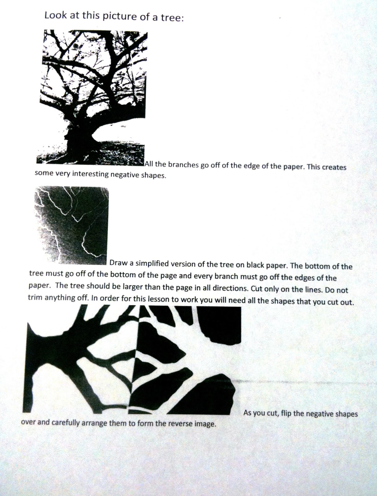 The Helpful Art Teacher Positive And Negative Space Continued