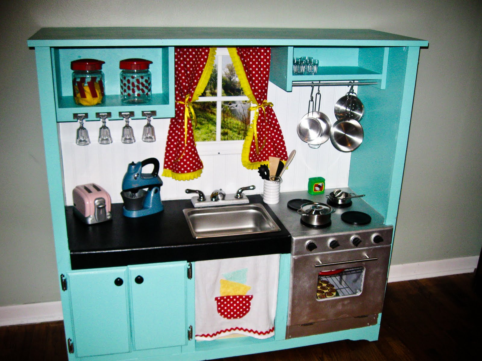 Kids Play Kitchen Entertainment Center