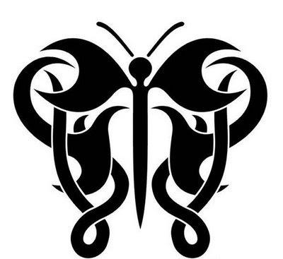 Tattoo Tribal KupuKupu  Gambar Seni Tattoo