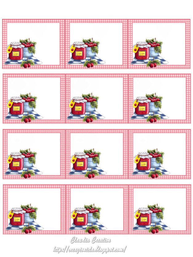 Preferenza il mio angolo creativo: Etichette marmellate, grandi HT46